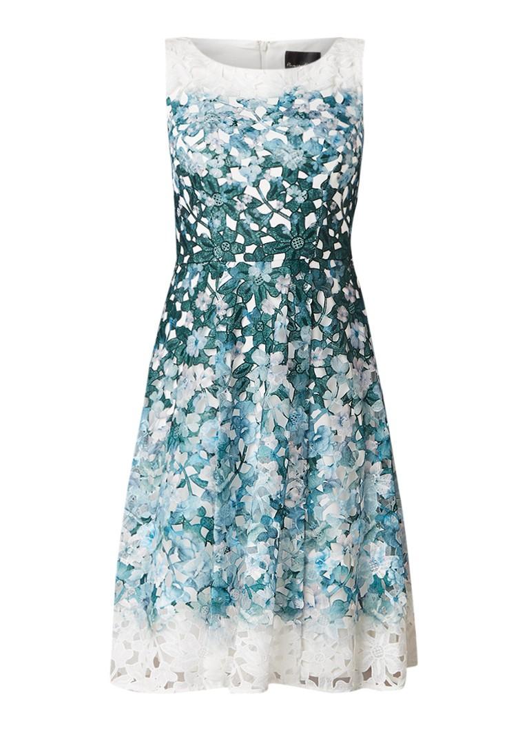 Phase Eight Angela A-lijn jurk van gebloemd kant met kleurverloop groen