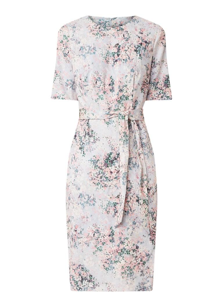 Phase Eight Chantel midi-jurk met bloemendessin lichtroze