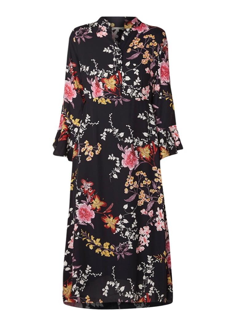 Phase Eight Claude midi-jurk met bloemendessin zwart
