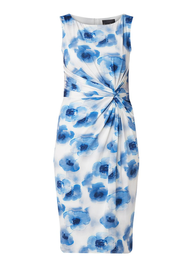 Phase Eight Mary Floral jersey midi-jurk met bloemendessin blauw