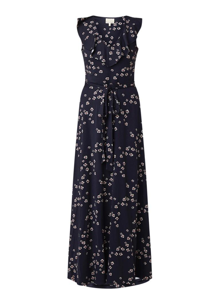 Phase Eight Destiny maxi-jurk met bloemendessin donkerblauw