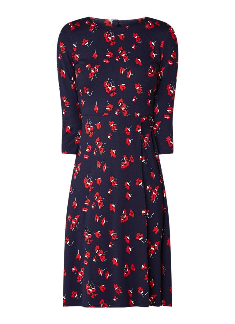Phase Eight Livi jersey A-lijn jurk met bloemendessin donkerblauw