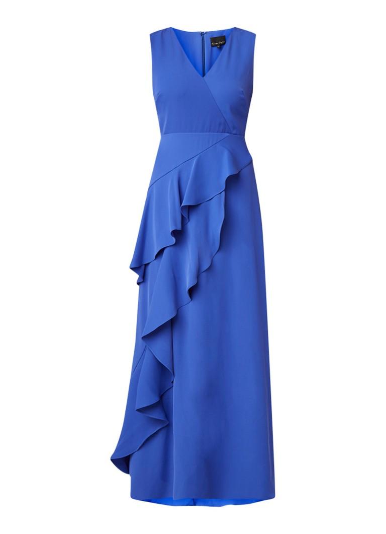 Phase Eight Constansie maxi-jurk met volant royalblauw
