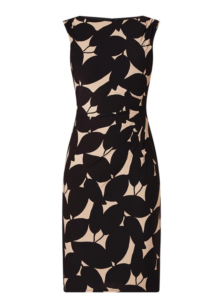Phase Eight Laurita jersey jurk met dessin zwart