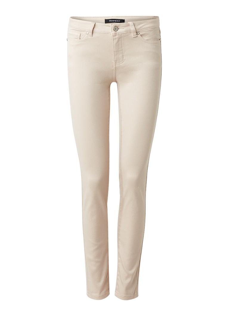 Repeat Mid rise skinny fit jeans met gekleurde wassing
