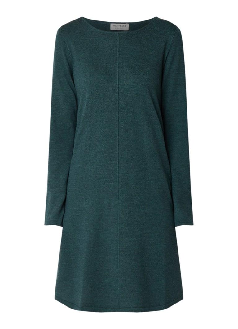 Repeat Loose fit fijngebreide jurk van wol donkergroen