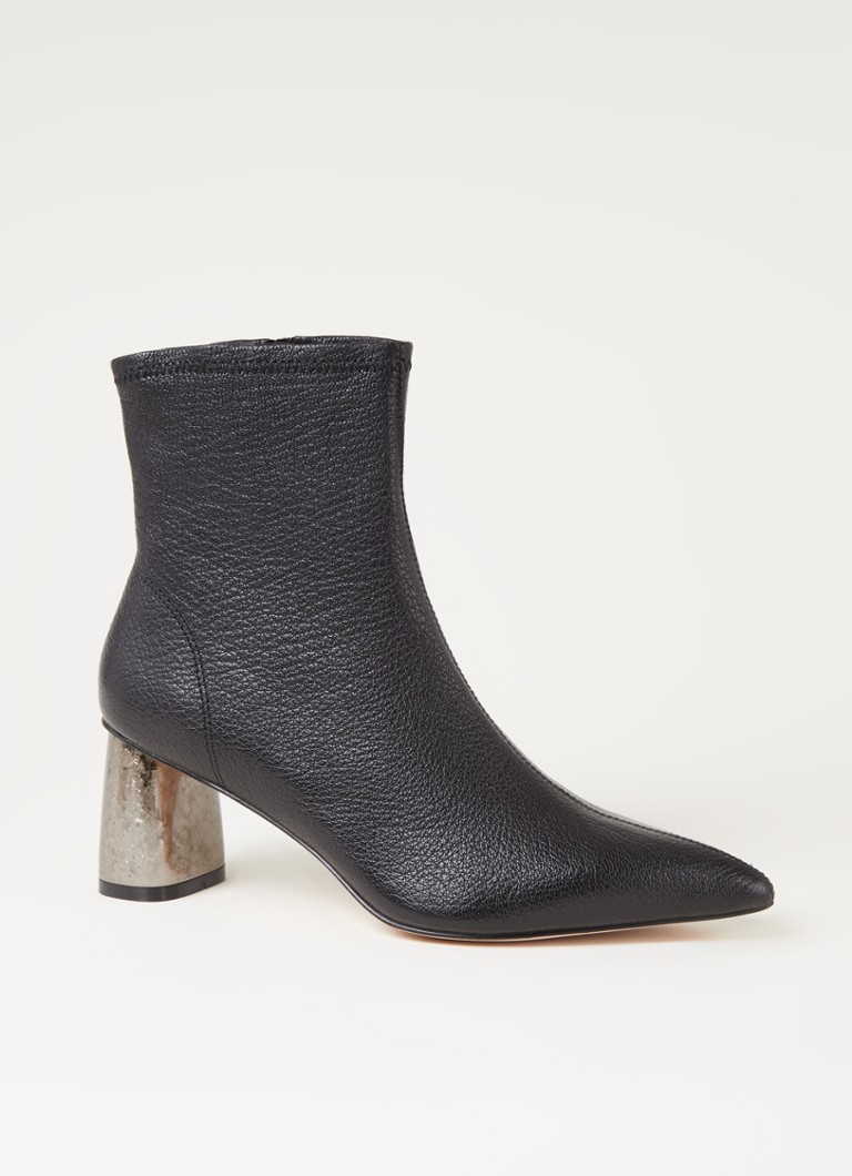 Kurt Geiger London Rio Leren sock boots met hak in zwart online kopen