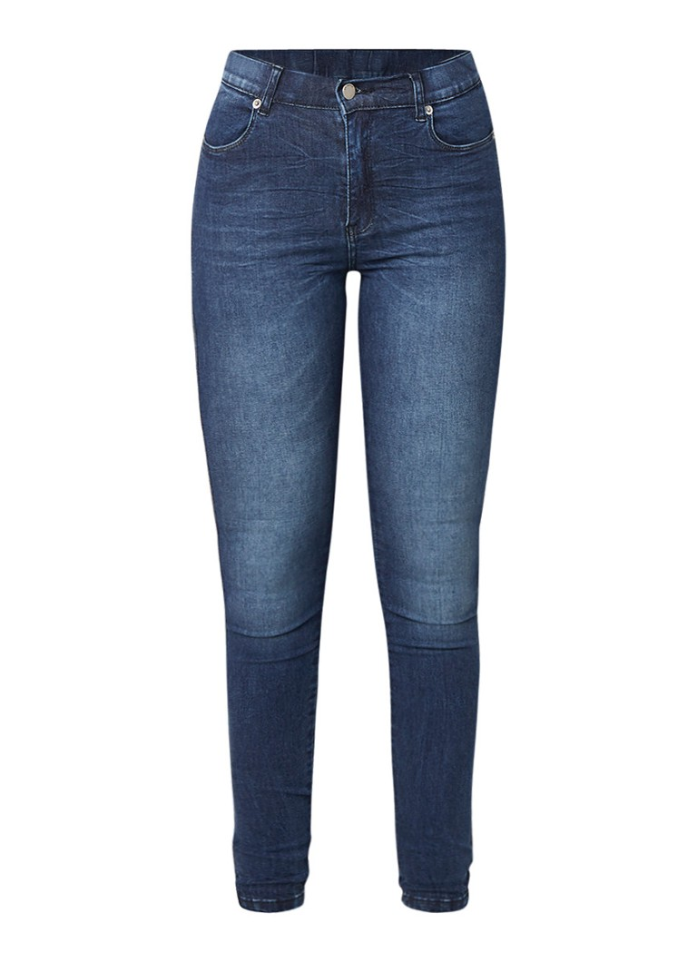 Image of Dr Denim Lexy high rise skinny fit jeans met donkere wassing