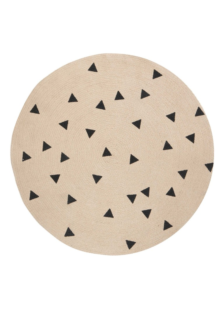 Ferm Living Black Triangles vloerkleed 130 cm