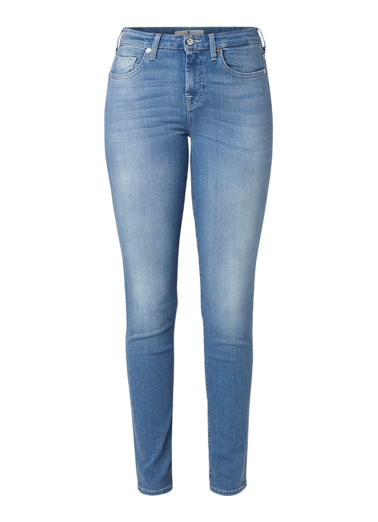 Image of 7 For All Mankind Pyper the slim illusion high rise slim fit jeans