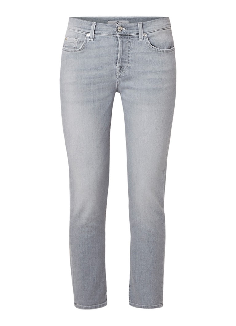 7 For All Mankind Asher mid rise slim fit jeans met lichte wassing