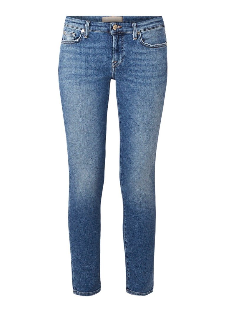 7 For All Mankind Pyper mid rise slim fit cropped jeans