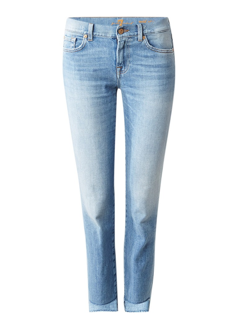 7 For All Mankind Roxanne mid rise cropped slim fit jeans