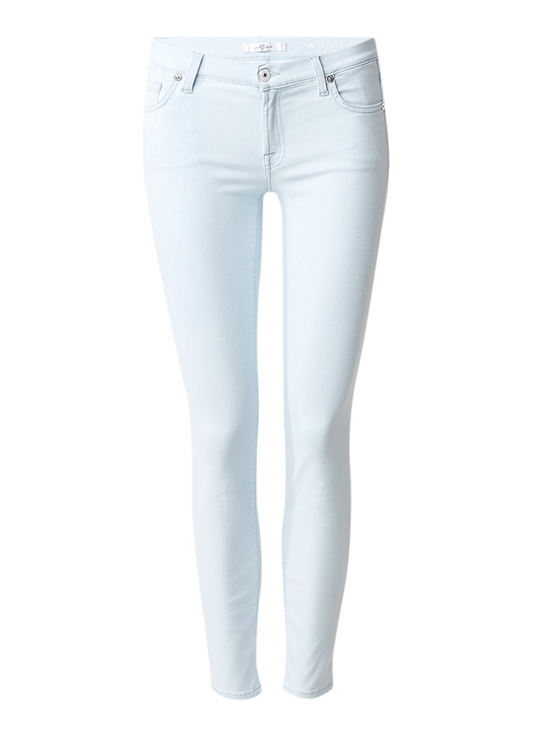 7 For All Mankind The Skinny Crop Slim Illusion low rise skinny fit jeans