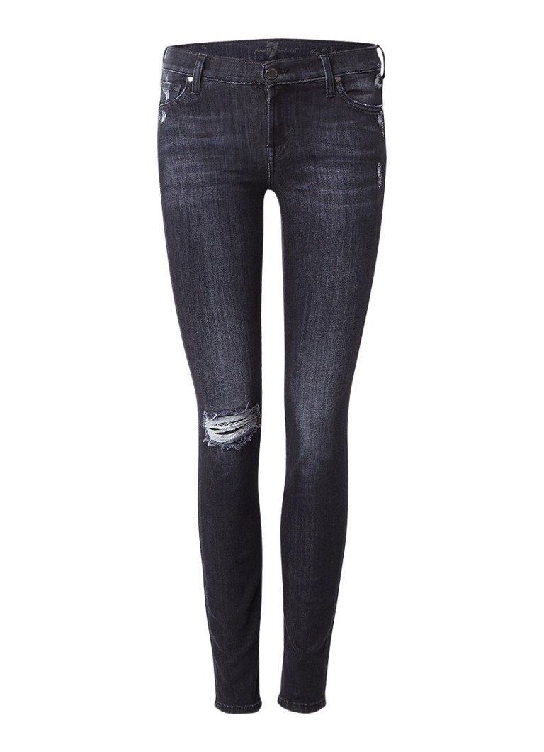 7 For All Mankind The Skinny Slim Illusion skinny jeans met destroyed details