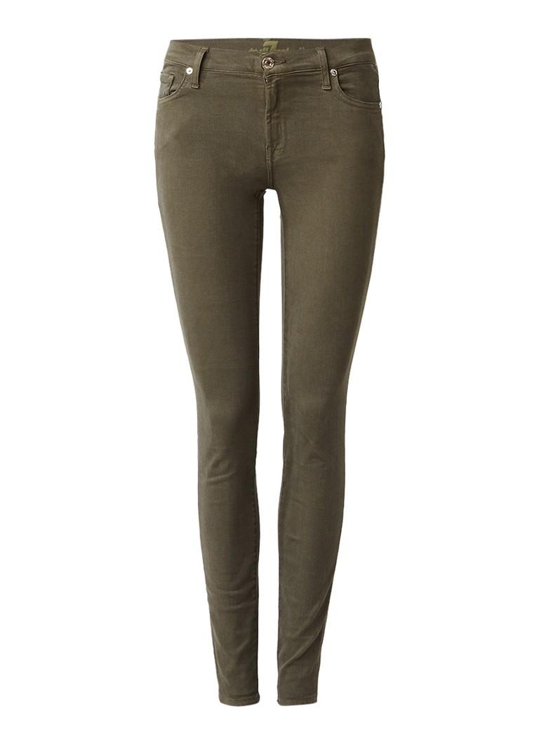 7 For All Mankind The skinny low rise slim fit jeans met gekleurde wassing
