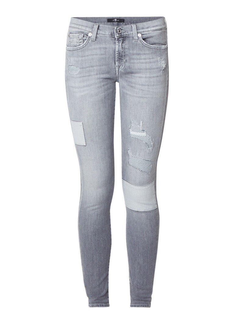 7 For All Mankind The Skinny high rise destroyed jeans