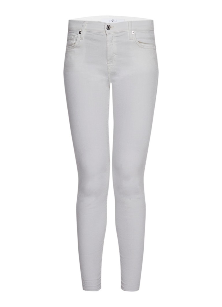 7 For All Mankind Mid rise skinny fit jeans met gerafelde afwerking