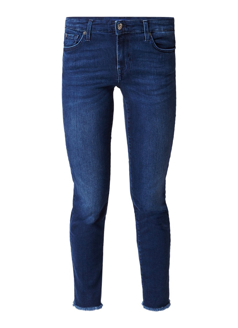7 For All Mankind Pyper low rise cropped slim illusion jeans