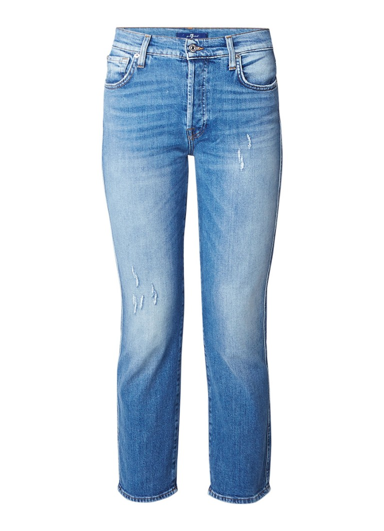7 For All Mankind Edie high rise straight fit jeans