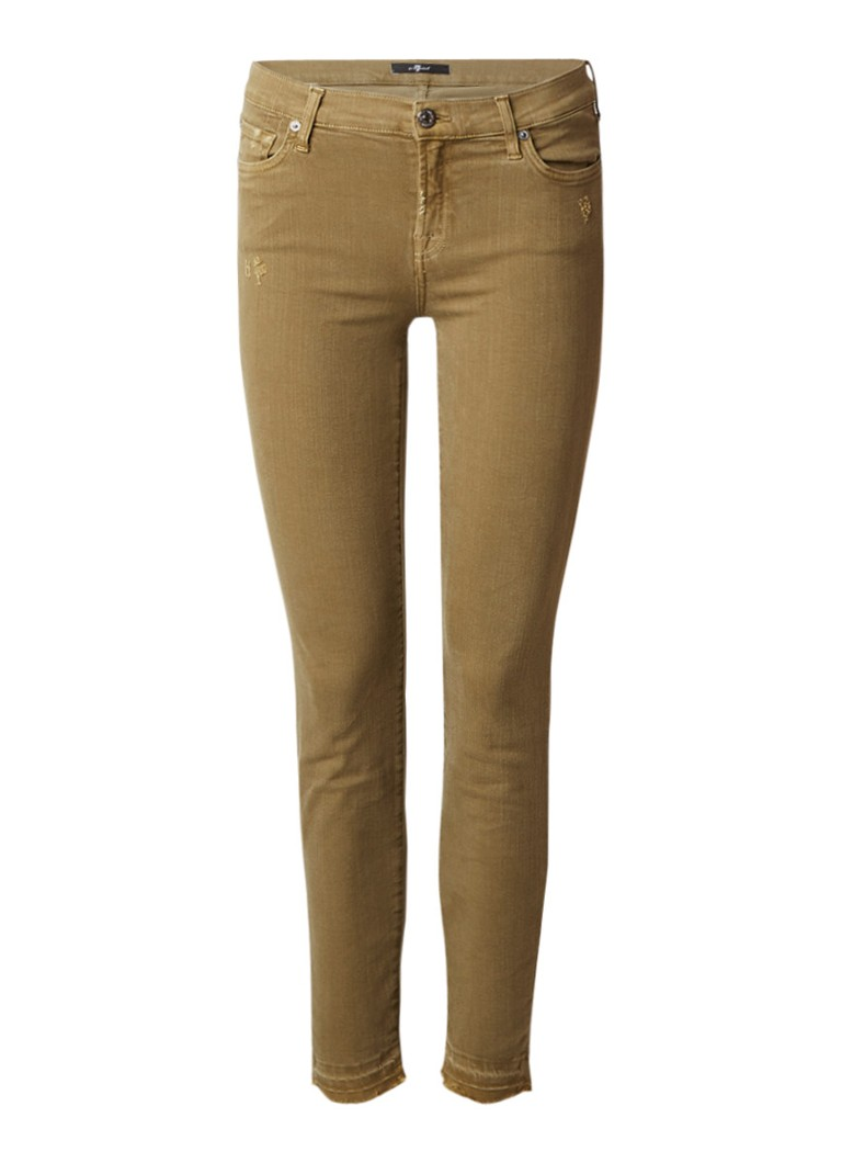 7 For All Mankind The Skinny Crop low rise jeans met strass