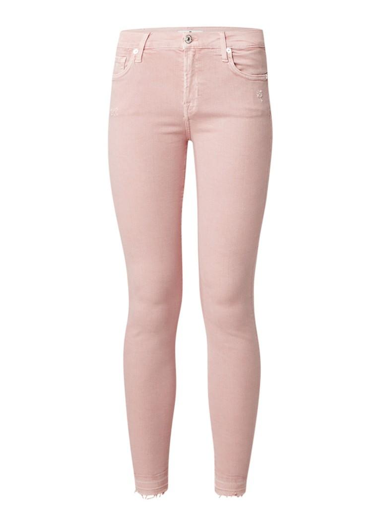 7 For All Mankind The skinny low rise skinny fit 7 8 jeans met gerafelde zoom