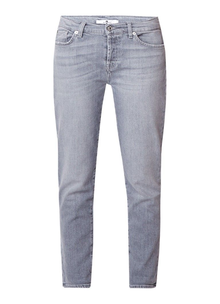 7 For All Mankind Josephina mid rise cropped boyfriend jeans