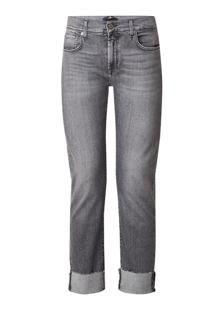 7 For All Mankind Relaxed skinny fit jeans met gerafelde zoom