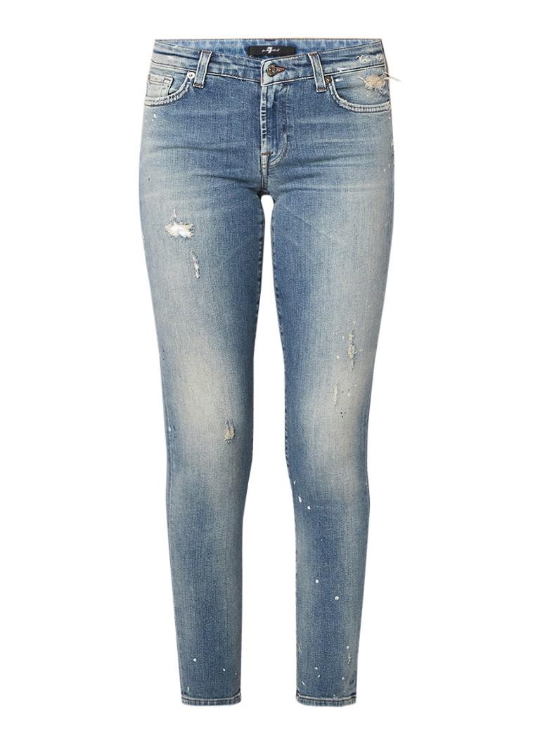 7 For All Mankind Pyper low rise slim fit jeans met destroyed details