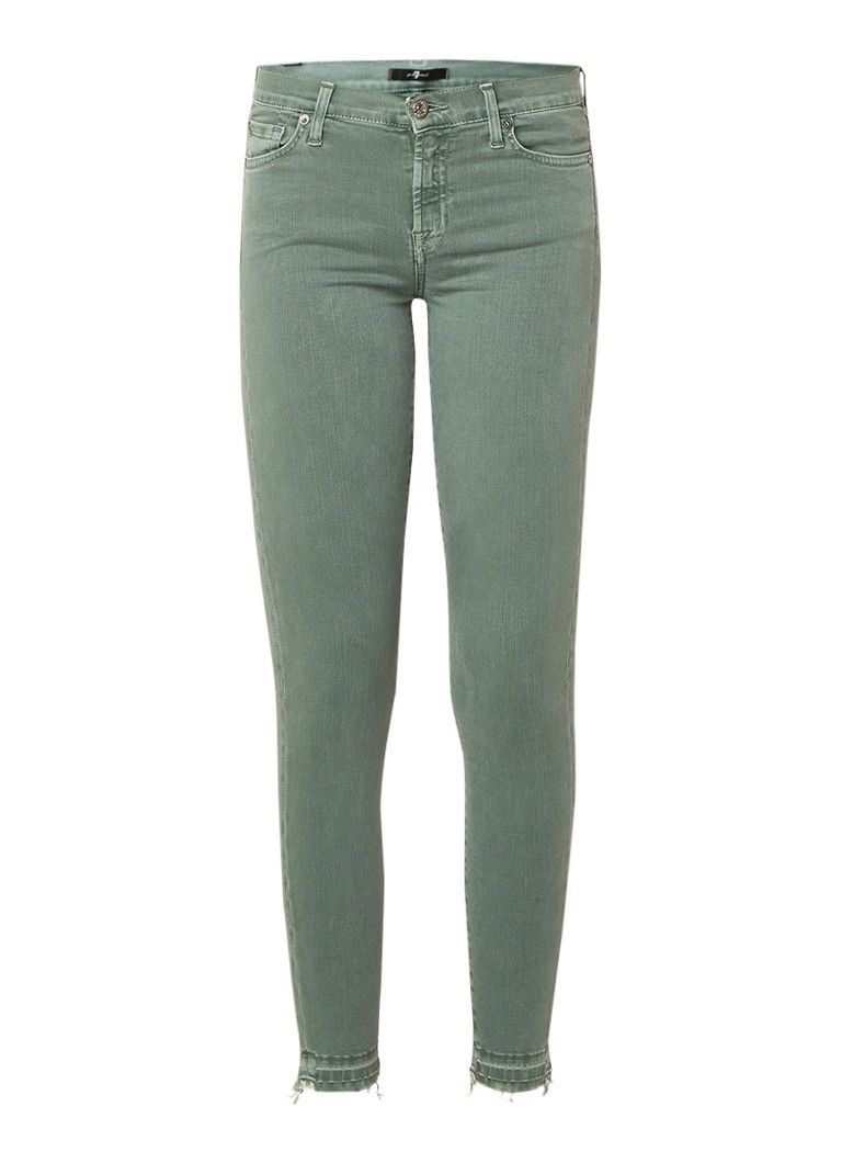 7 For All Mankind The Skinny high rise cropped jeans met gekleurde wassing