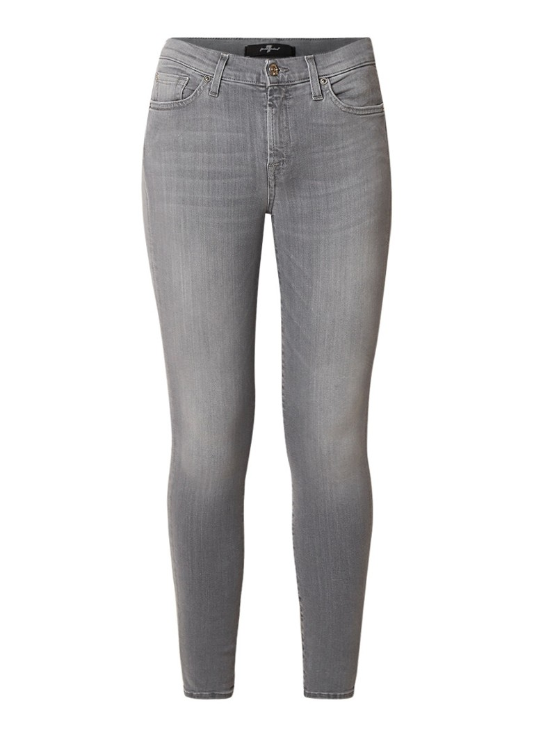 7 For All Mankind The Skinny Slim Illusion mid rise cropped skinny fit jeans