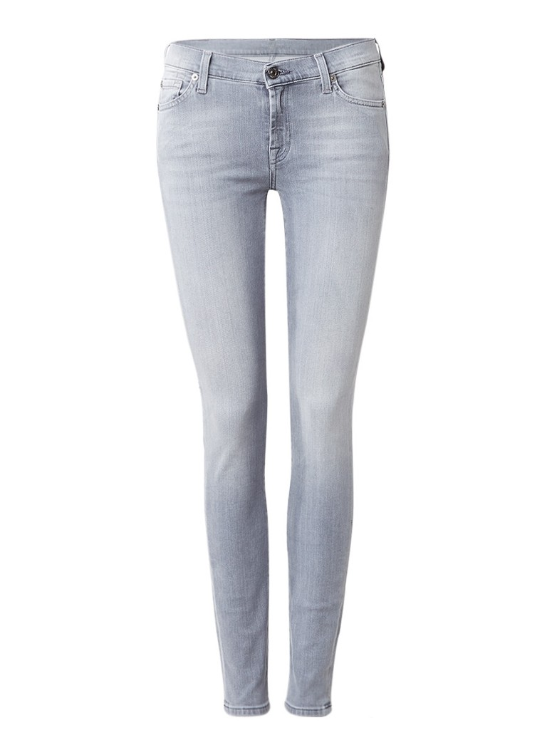 7 For All Mankind The Skinny Slim Illusion skinny jeans met lichte wassing