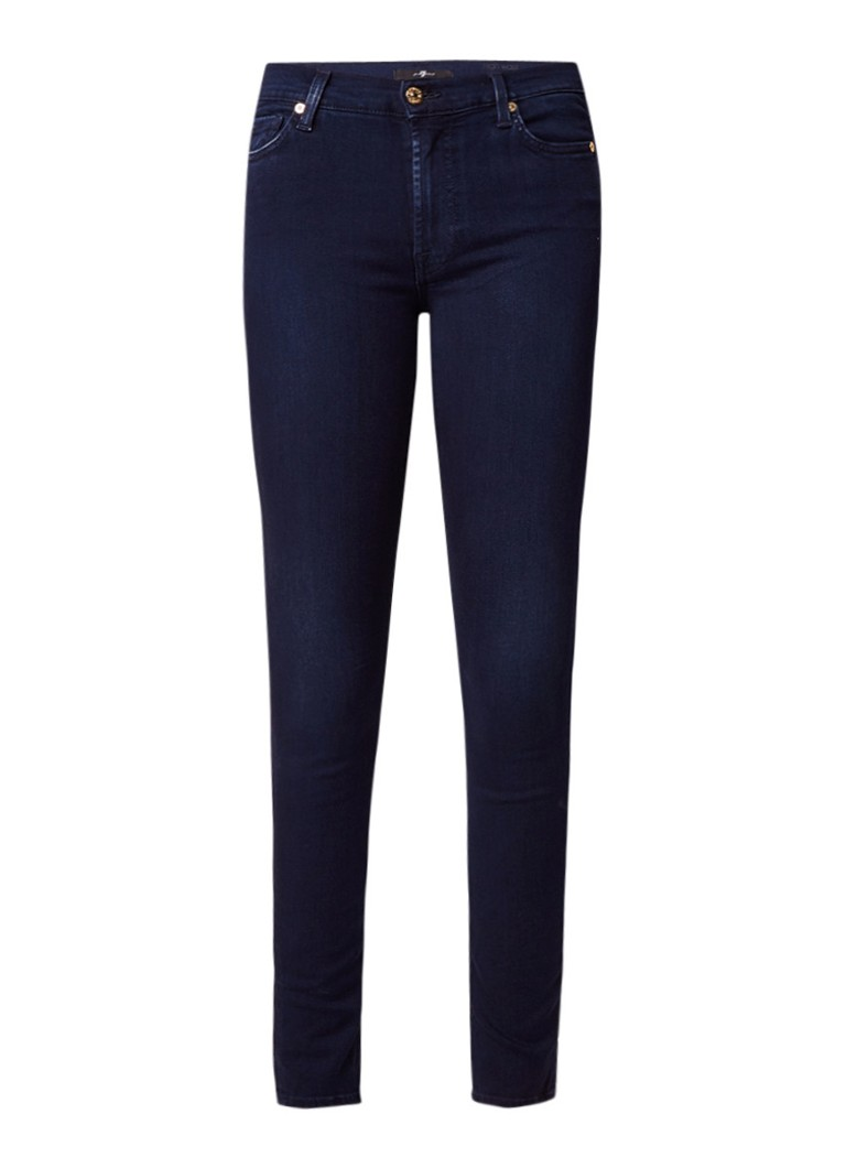 7 For All Mankind High rise skinny jeans met stretch
