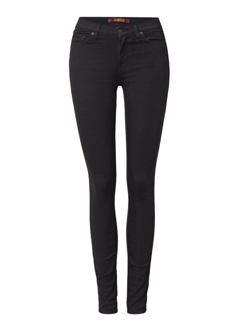 7 For All Mankind Zwarte mid rise skinny jeans The Skinny