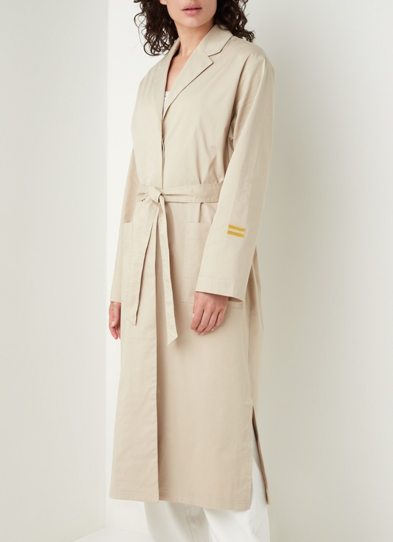 10DAYS - Trenchcoat met strikceintuur - Beige