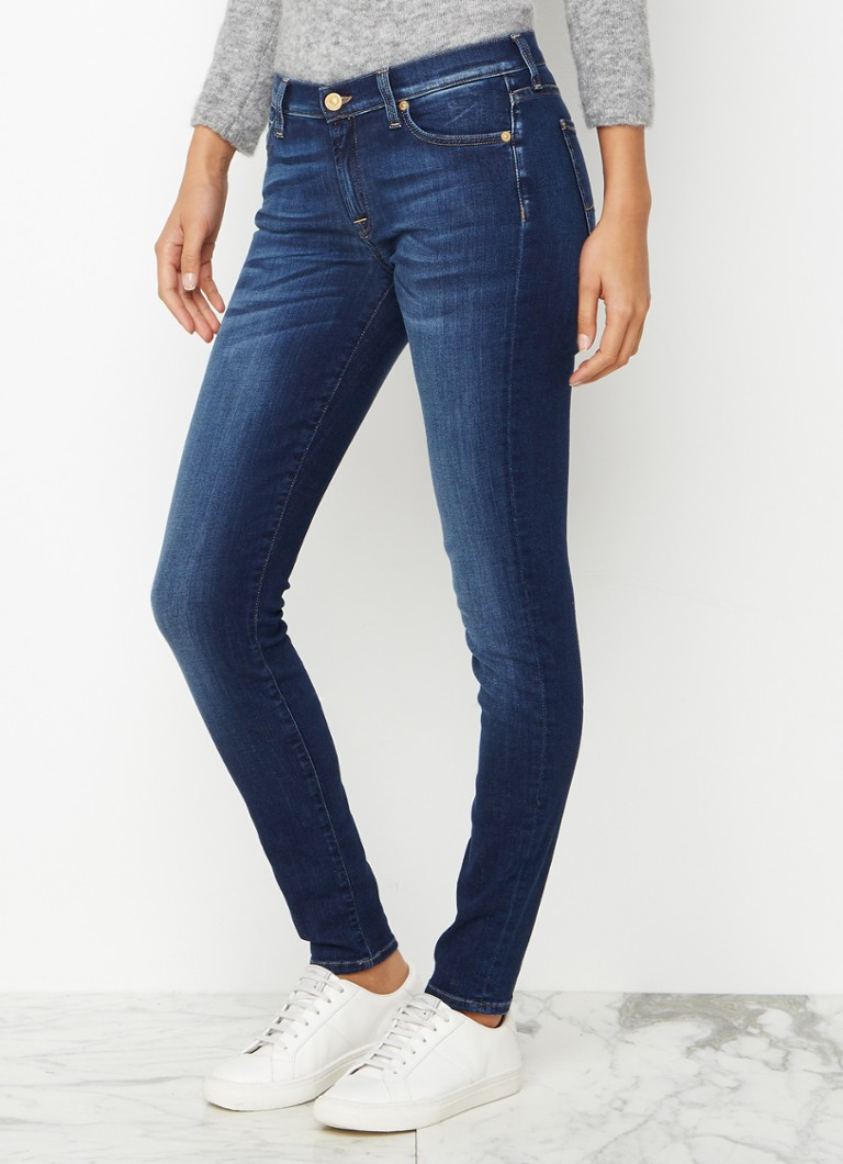 7 For All Mankind - 7 For All Mankind The Skinny low waist skinny jeans - Indigo