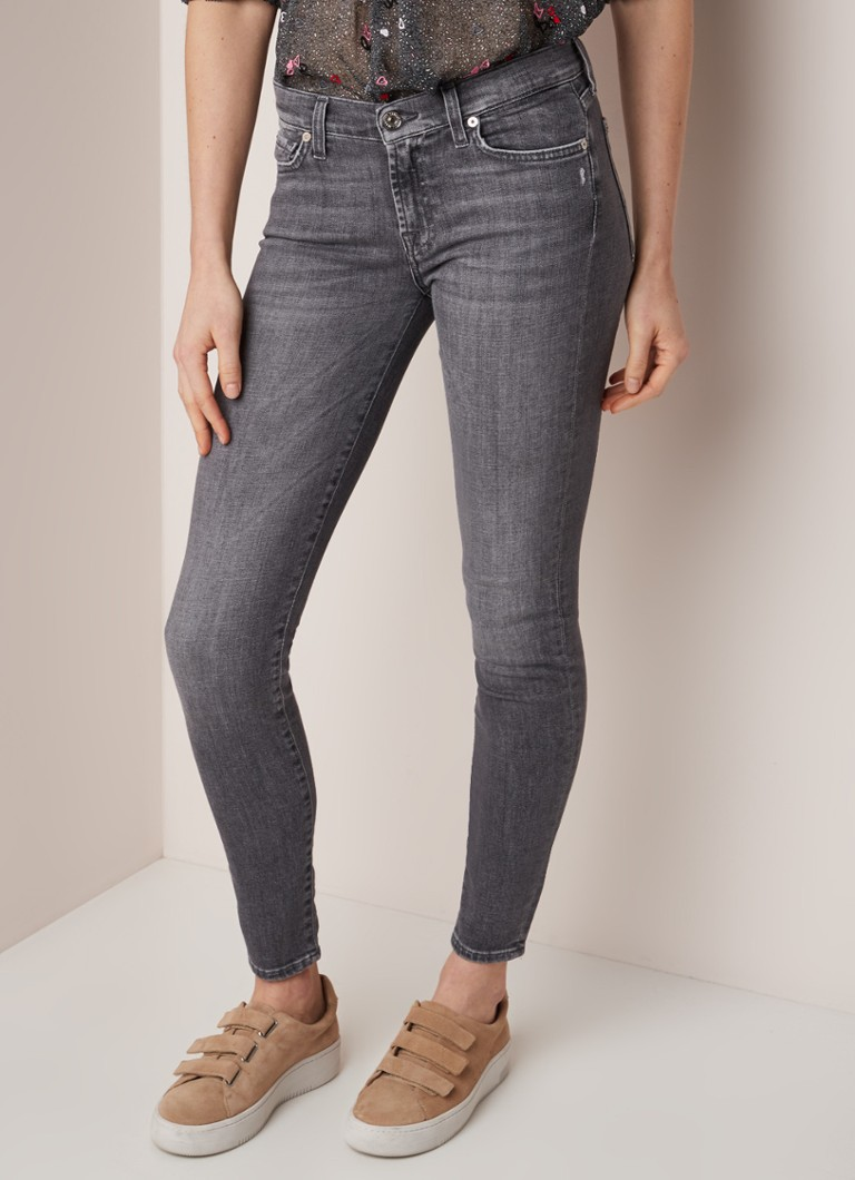 7 For All Mankind - Slillsha  skinny fit jeans met stretch  - Antraciet