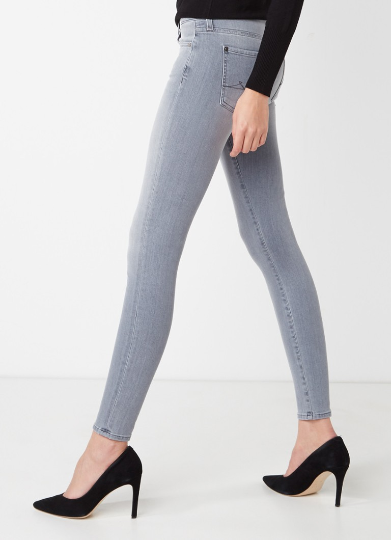 7 For All Mankind - The Skinny Slim Illusion skinny jeans met lichte wassing - Grijs