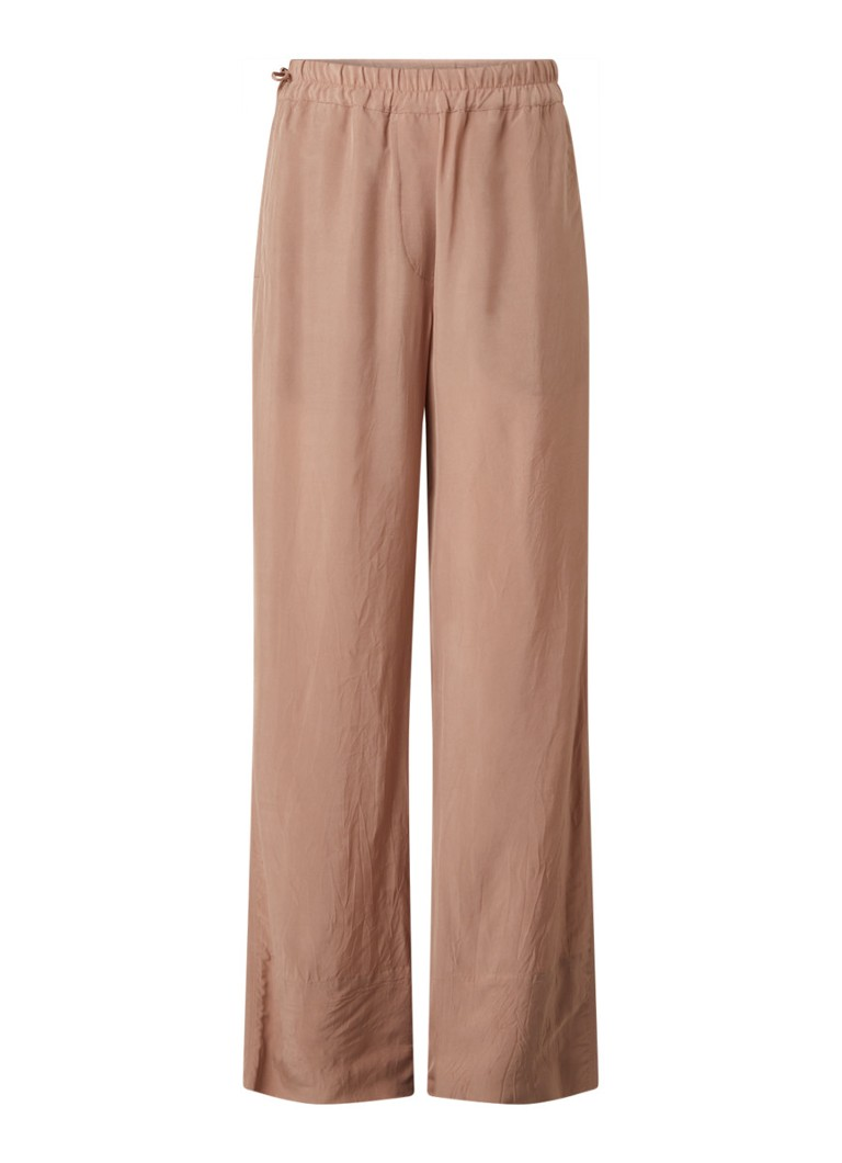 Acne Studios - Pame high waist wide fit pantalon met steekzakken - Oudroze