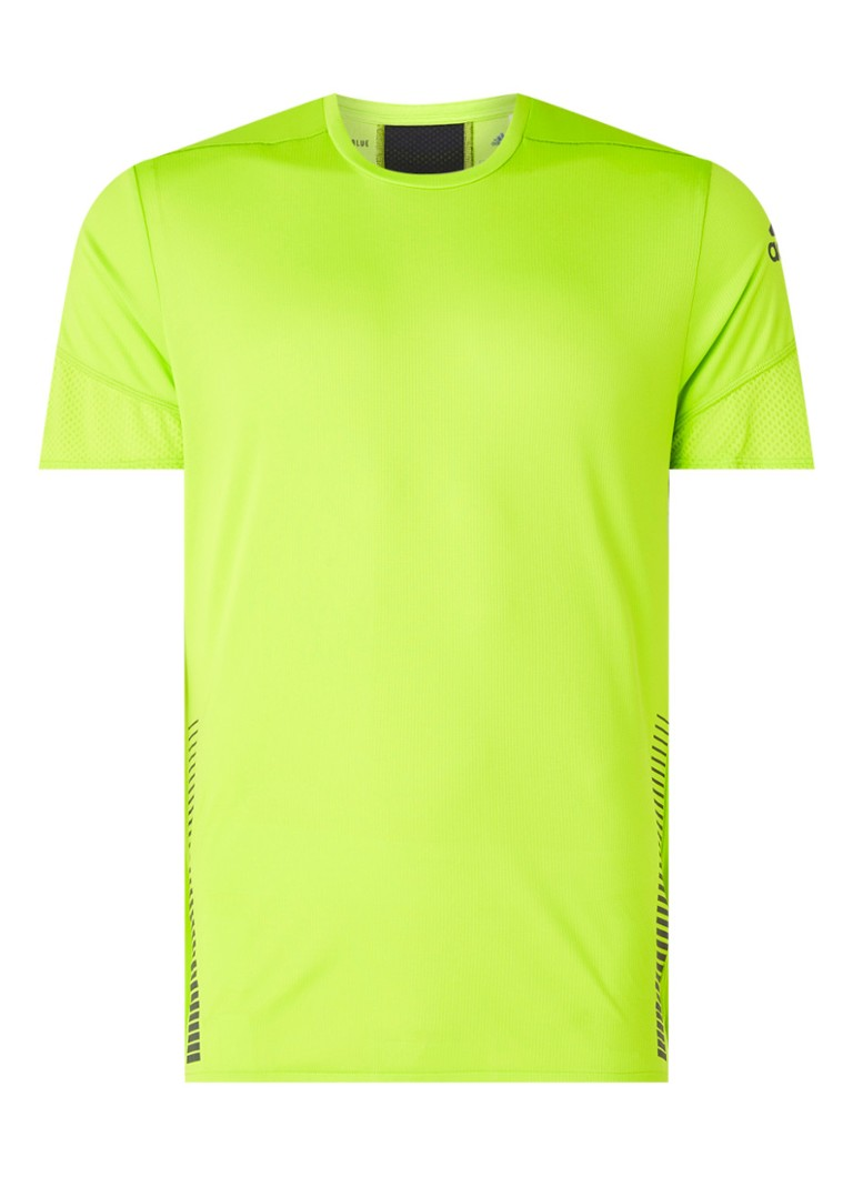 adidas - 25/7 Rise Up N Run Aeroready hardloop T-shirt met mesh details - Lime