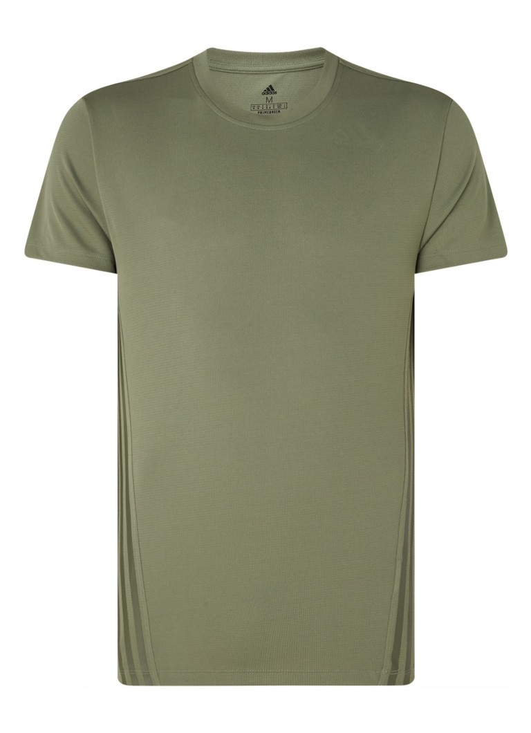 adidas - Aeroready trainings T-shirt van gerecycled polyester - Olijfgroen