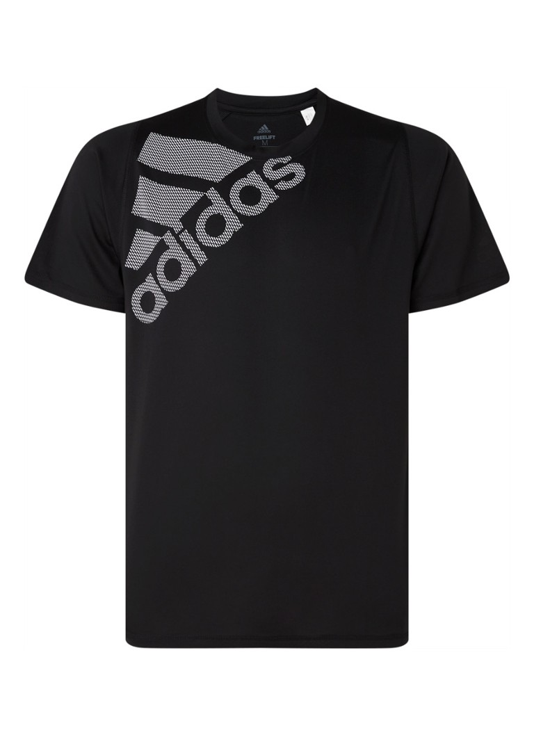 adidas - Badge of Sport Freelift trainings T-shirt met logoprint - Zwart