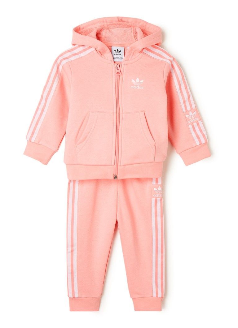 adidas - Lock Up trainingspak met logobies - Roze