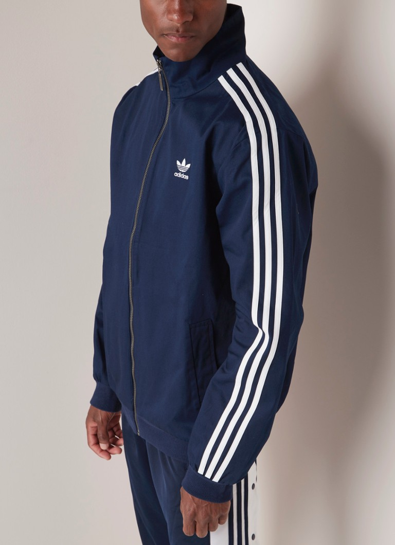 2518378afac adidas Trainingsjack van katoen met streepdessin • de Bijenkorf
