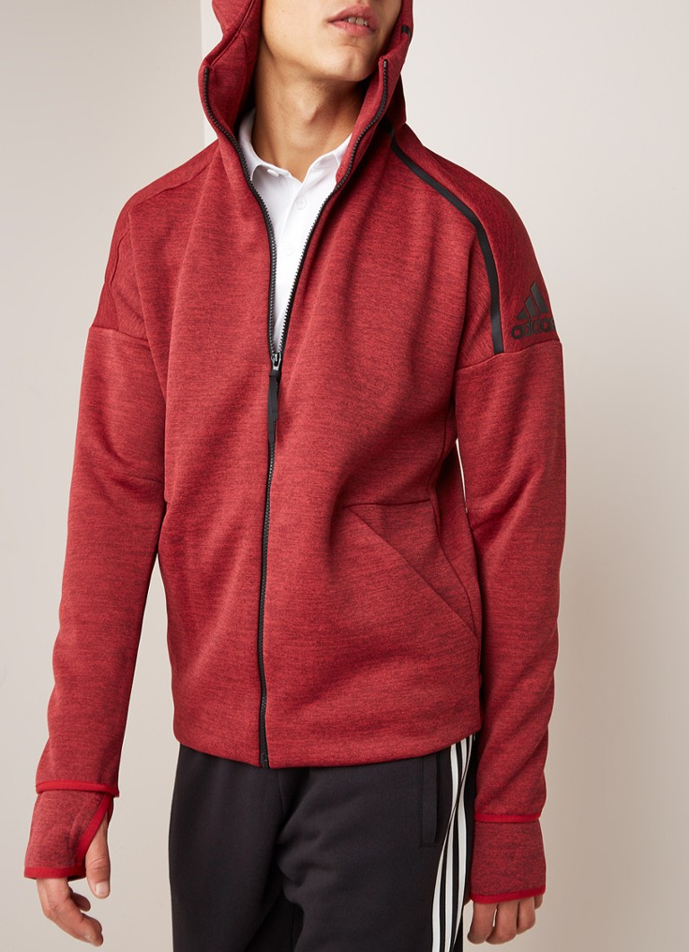 adidas - Z.N.E. Fast Release sweatvest met capuchon - Rood
