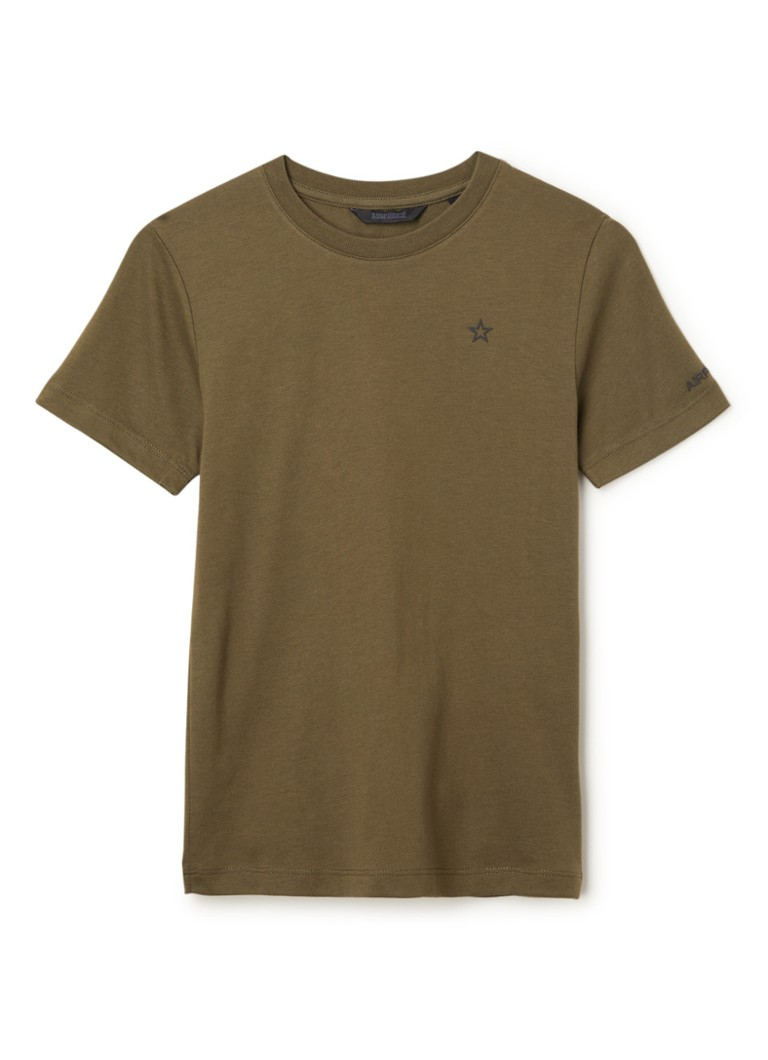 Airforce - Basic T-shirt van gerecycled plastic - Olijfgroen