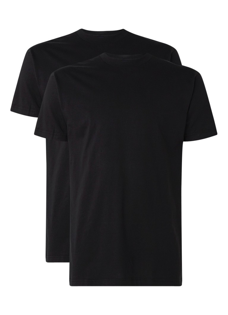 Alan Red - Virgina regular fit T-shirt met ronde hals in 2-pack - Zwart