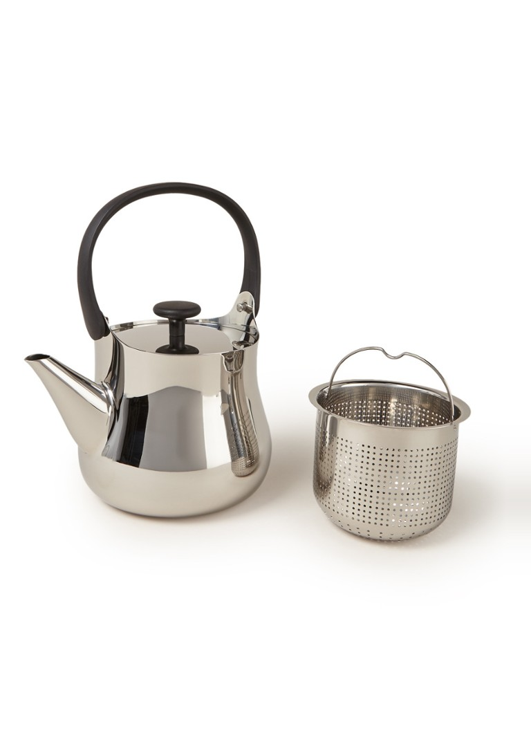 Alessi - Cha theepot met filter 90 cl - Zilver