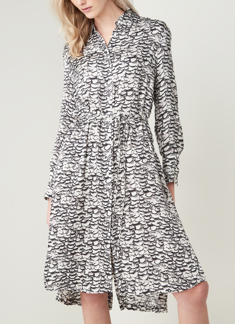 ALLSAINTS - Anya midi blousejurk met all over print - Wit