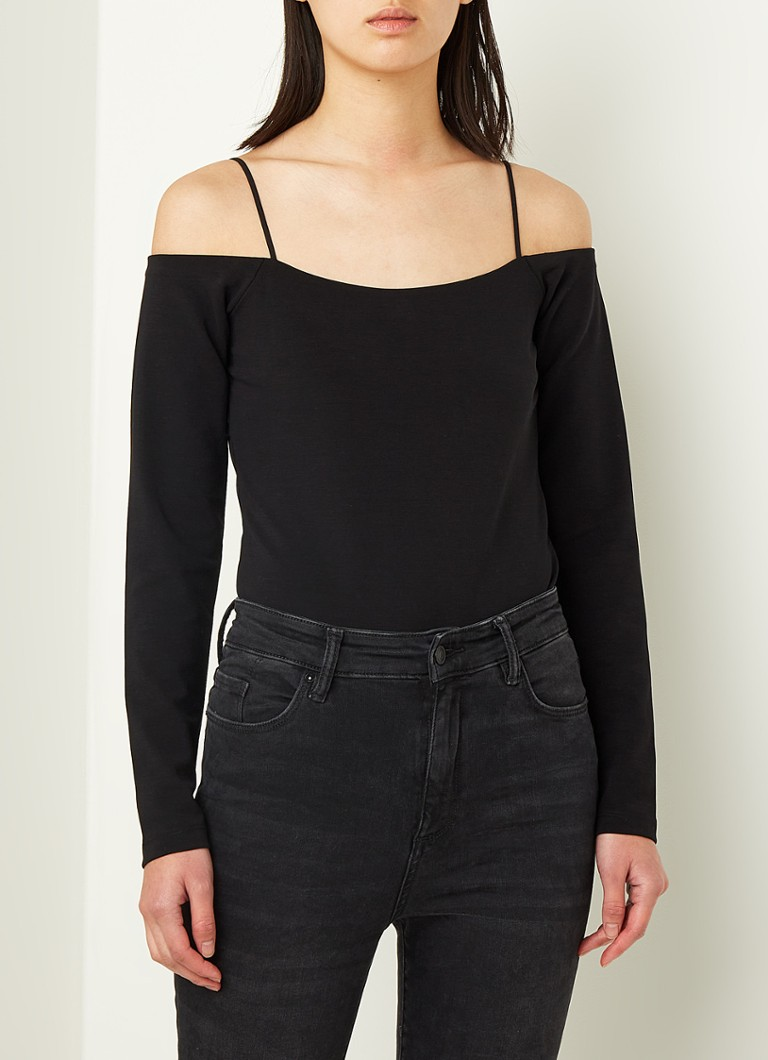 ALLSAINTS - Audery off shoulder body - Zwart